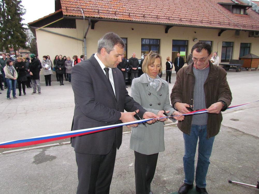 Minister mag. Dejan Židan, direktorica BIC LJ mag. Jasna Kržin